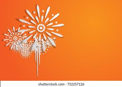 White Firework Vector
