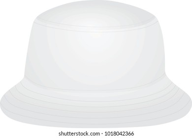 60084e08b9346d White fisherman hat. vector illustration. bucket hat collection