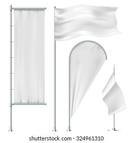 White flags and banners