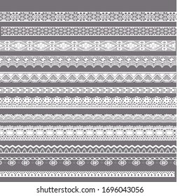 White Floral Pattern Trim Lace Ribbon for Decorating