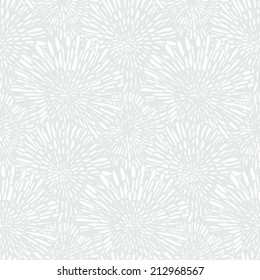 White floral texture in vintage style for Christmas and holiday decor or wedding invitation background. Seamless vector pattern for winter fashion