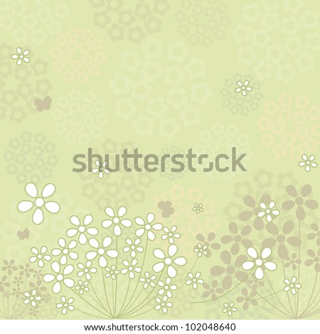 White Flower Backgrounds Floral Pattern Design Stock Vector Royalty