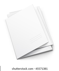 white folder with blank titular cover - vector illustration