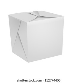 White Food box,  fast food, Chinese food, candies box