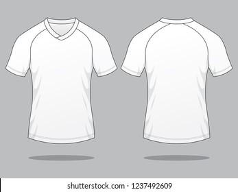 White Football Shirt for Template