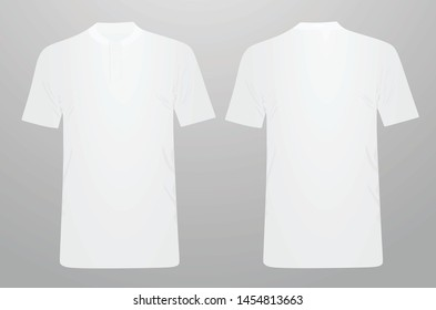 White forge polo shirt. vector illustration