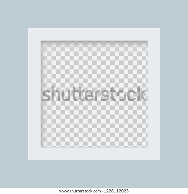 White Frame Transparent Background Blank Photo Stock Image