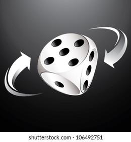 white gambling dice