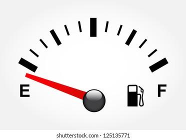 White gas tank illustration on white