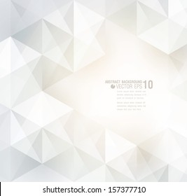 White geometric background for cover design, card design, page design.