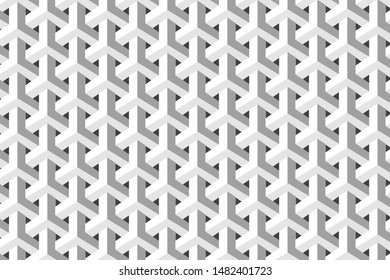 The white geometric patterns for design.