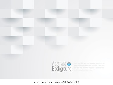 White geometric texture. Vector background can be used in cover design, book design, website background, CD cover, advertising, flyer.