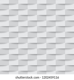 White geometric texture. Vector illustration. Abstract 3d background