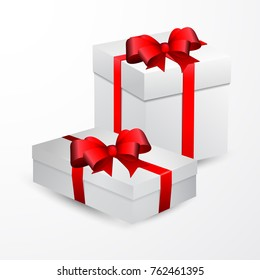 white gift box vector.