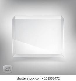 White glass transparent box