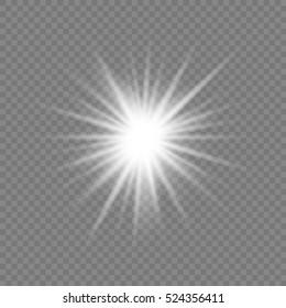 White Glow light effect. Vector illustration EPS 10.
