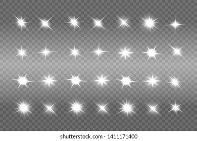 b0a8d70801c5 White glowing light explodes on a transparent background. Sparkling magical  dust particles. Bright Star