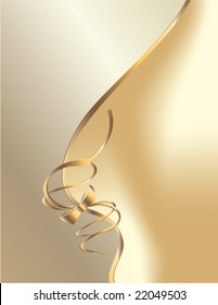 White gold bow curve background - vector (part of set - available in portfolio)