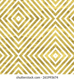 White and gold  pattern. Abstract geometric modern background. Vector illustration.Shiny backdrop. Texture of gold foil. Art deco style.