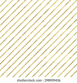 White and gold  pattern. Abstract geometric modern background. Vector illustration.Shiny backdrop. Texture of gold foil. Classic wallpaper with stripes.