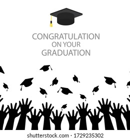 White graduation congratulation background Vector