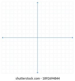 White graph paper with blue point pattern and blue x y line