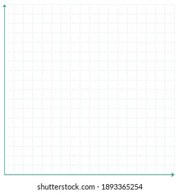 White graph paper with green point pattern and green x y line