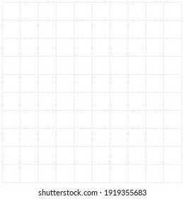 White graph paper with red dot pattern