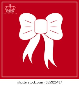 White graphical decorative bows