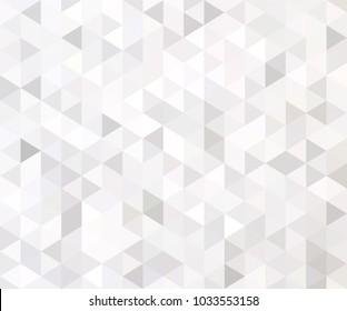 White and gray background. Geometric style. Mesh of triangles. Mosaic template for your design.