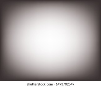 White and gray blurred vector background, blank light radial gradient. Minimal studio room backdrop. Modern vignette photo effect, empty 3d template, gradient.