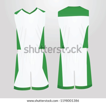1fafe4fe8769 White Green Basketball Uniform Vector Illustration Stock Vector ...
