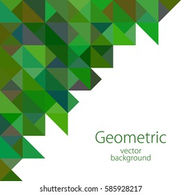 white green geometric abstract illustration business background, vector, triangle, polygon graphics