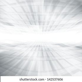 white & grey abstract perspective background, deep horizon