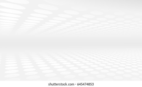 White And Grey Abstract Perspective Background 16x9. EPS10 Vector