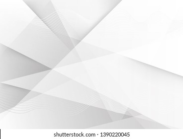 White and grey background. Abstract modern background used about technology or product presentation backdrop. Vector. Illustration.