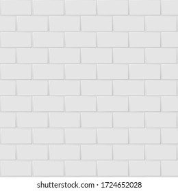 White and grey the ceramic rectangle mosaic tiles wall high resolution. brick seamless and texture interior clean background.