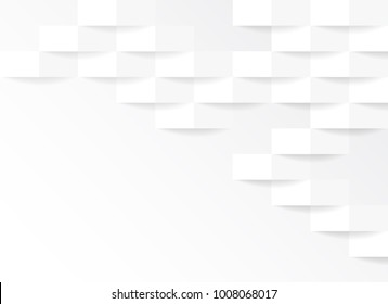 White and grey geometric abstract background vector illustration.