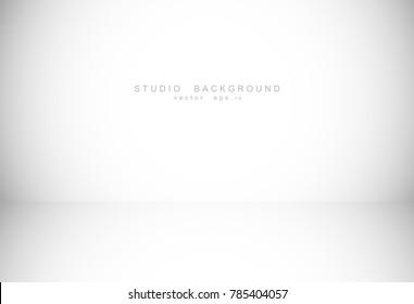 White grey gradient studio room background. Vector EPS 10