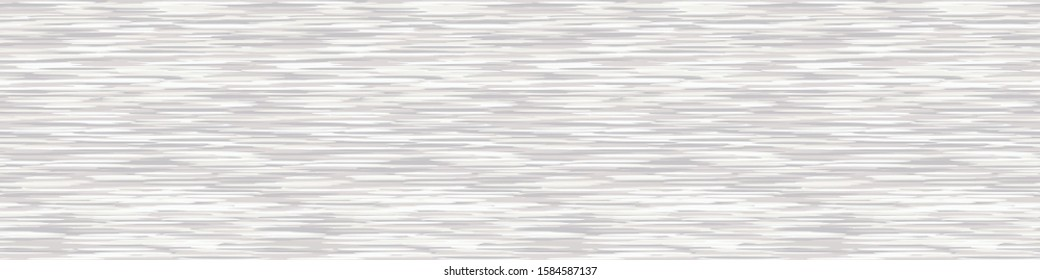White Grey Marl Heather Texture Banner Background. Faux Cotton Border with T Shirt Style. Vector Pattern Design. Salt and Pepper Gray Melange Edging Space Dye for Textile Effect. Vector EPS 10
