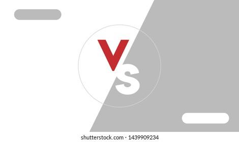 White and Grey Versus Screen Design Modern Banner