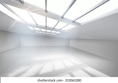 White hall. Vector illustration.