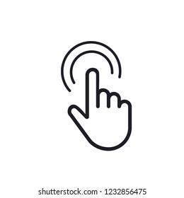 White hand cursor pointer icon. Flat version vector illustration. Stock vector illustration