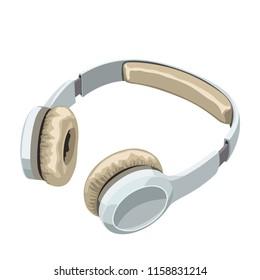 white headphones on white