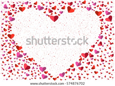 White Heart Frame Small Big Flat Stock Vector (Royalty Free ...