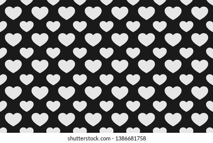 White heart pattern on black background.