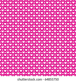 White hearts and pink background
