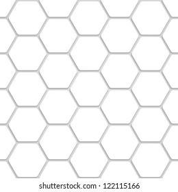 White Hexagon Texture