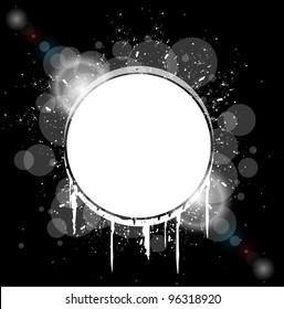 white hole splash on black background vector