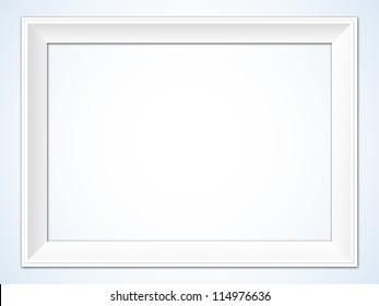 White Horizontal Picture Frame Illustration